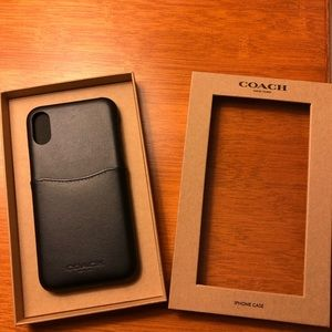Coach IPhone X/XS Leather Phone Case